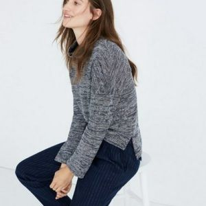 Madewell Marled Mock Neck Pullover Sweater